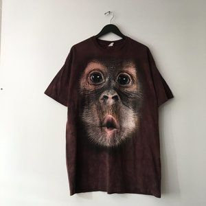 Vintage Animal Graphic Tee XL Shirt Red